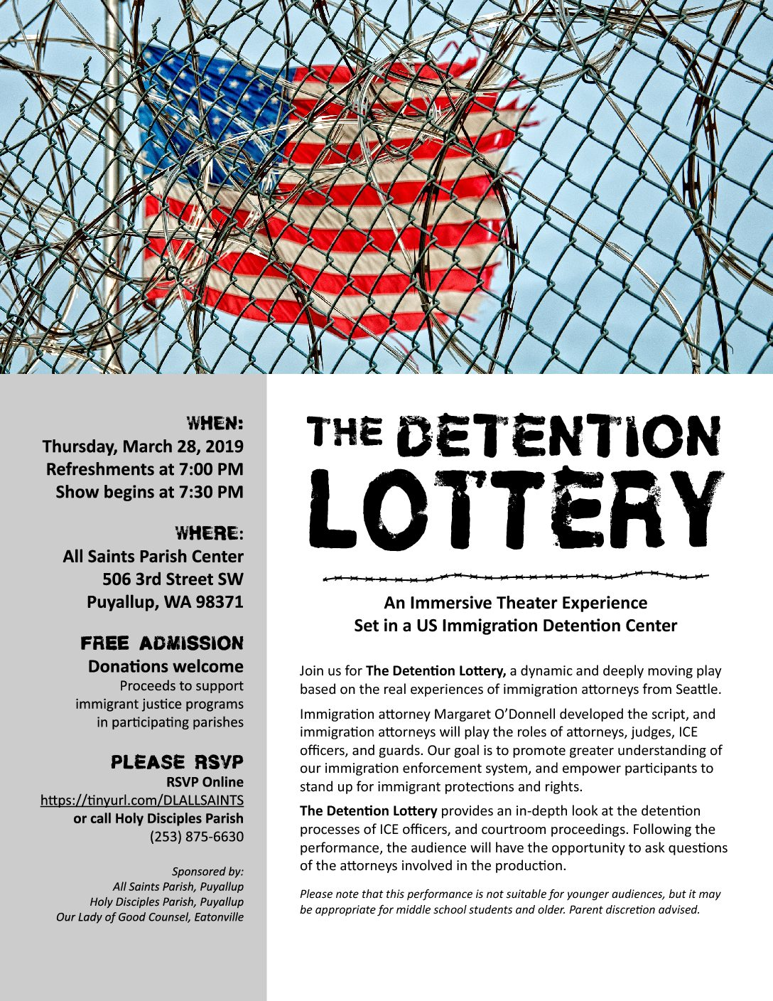 The Detention Lottery – Thursday, March 28th